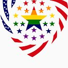 Love is Love American Flag 2.0 (Heart) by Carbon-Fibre Media