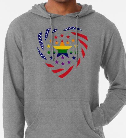 Love is Love American Flag 2.0 (Heart) Lightweight Hoodie