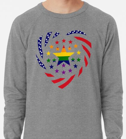 Love is Love American Flag 2.0 (Heart) Lightweight Sweatshirt