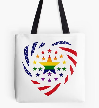 Love is Love American Flag 2.0 (Heart) Tote Bag