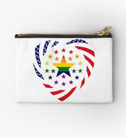 Love is Love American Flag 2.0 (Heart) Zipper Pouch
