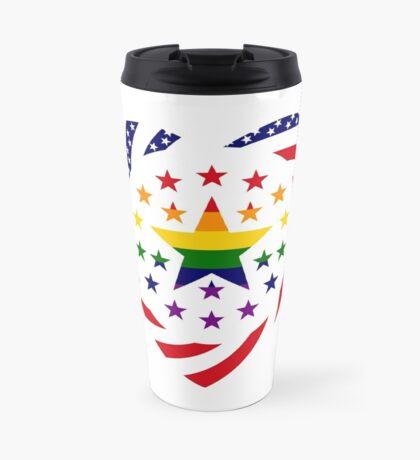 Love is Love American Flag 2.0 (Heart) Travel Mug