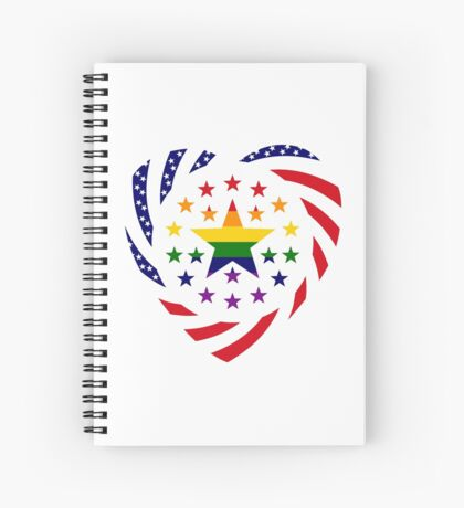 Love is Love American Flag 2.0 (Heart) Spiral Notebook
