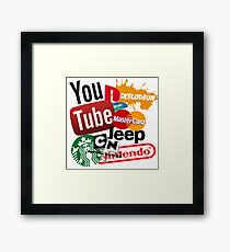 Logo Sticker Mashup Collage  Framed Print