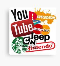 Logo Sticker Mashup Collage  Canvas Print