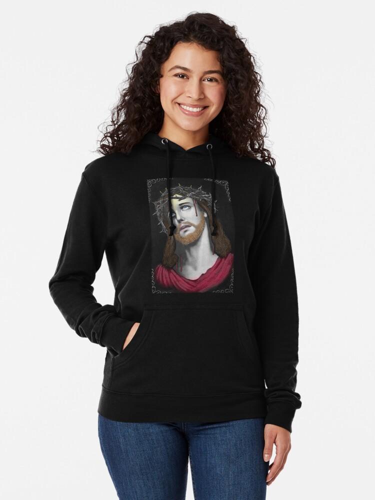 Vista alternativa de Sudadera ligera con capucha Artful Jesus