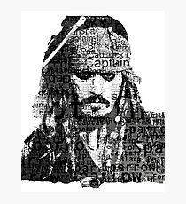 Jack Sparrow The Pirates Photographic Print