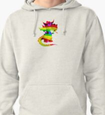 Rainbow Draco the Dragon  Pullover Hoodie