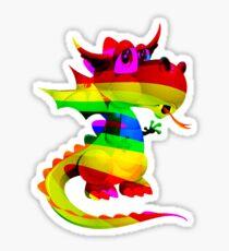 Rainbow Draco the Dragon  Sticker