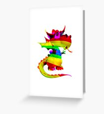 Rainbow Draco the Dragon  Greeting Card
