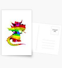 Rainbow Draco the Dragon  Postcards