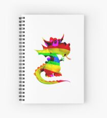Rainbow Draco the Dragon  Spiral Notebook