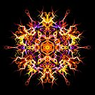 Dedication Focus - Sacred Geometry Mystic Energy Mandala. by Leah McNeir