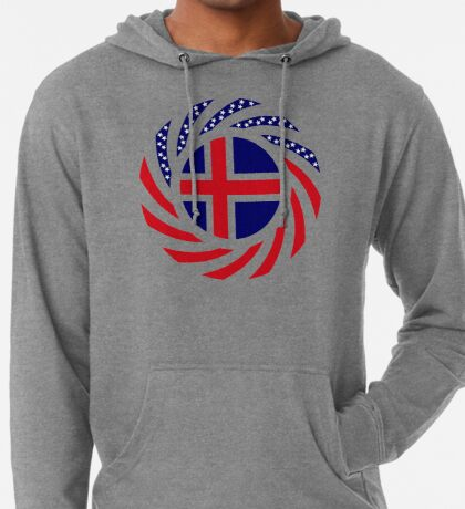 Icelandic American Multinational Patriot Flag Series Lightweight Hoodie