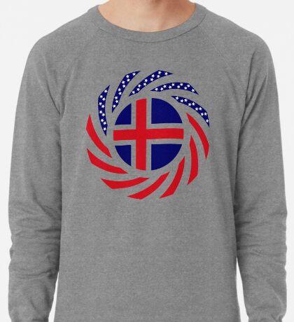Icelandic American Multinational Patriot Flag Series Lightweight Sweatshirt