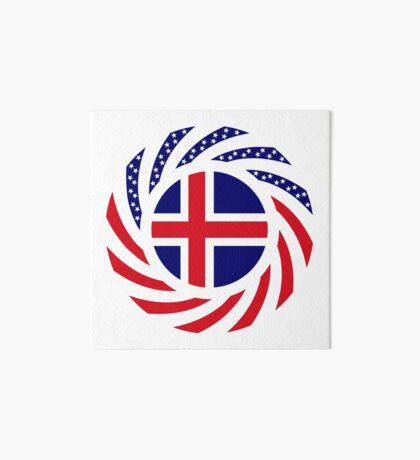 Icelandic American Multinational Patriot Flag Series Art Board Print