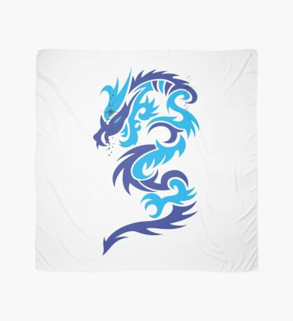 Blue dragon design  Scarf