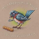 As Happy as a Bird with a French Fry by justteejay