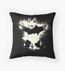 Bansky Panda Throw Pillow