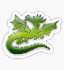 Green flying Dragons Sticker