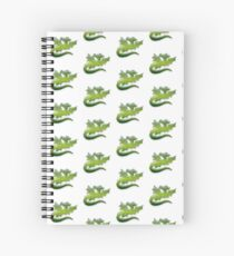 Green flying Dragons Spiral Notebook