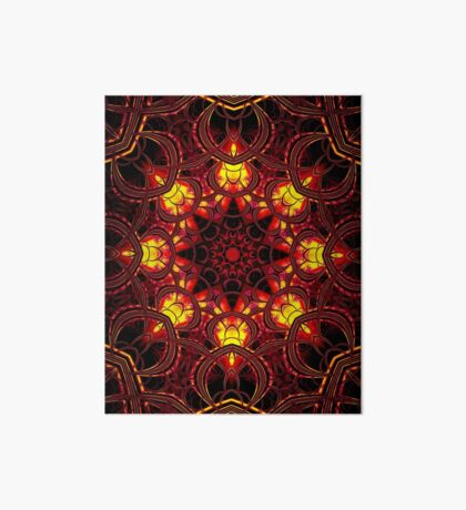 """On the Edge of Mania"" (Red Tones) - Geometric Abstract Mandala   Art Board"