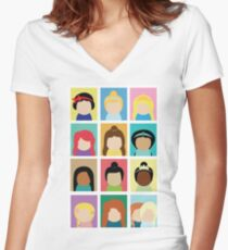 Princess Inspired Women's Fitted V-Neck T-Shirt