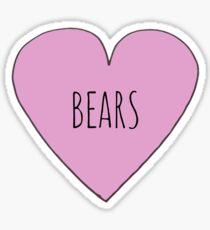 I Love Bears Sticker