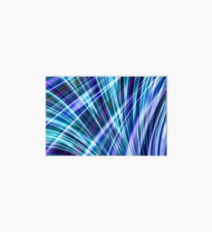 Color & Form Abstract - Blue Light Refraction Art Board