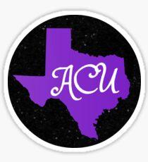 Abilene Christian University Black Glitter Sticker
