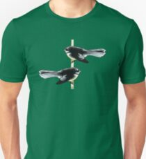 Piwakawaka Pair (on green) T-Shirt