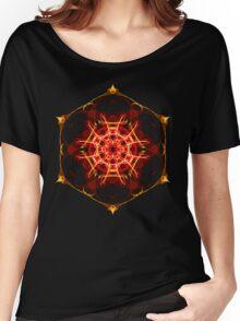 Energetic Geometry - Hexagon Mandala  Women's Relaxed Fit T-Shirt
