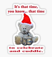 Teddy Christmas Sticker