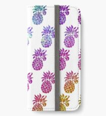 Rainbow holographic pineapples iPhone Wallet/Case/Skin