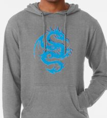 Blue dragon star  Lightweight Hoodie