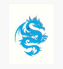 Blue dragon star  Art Print