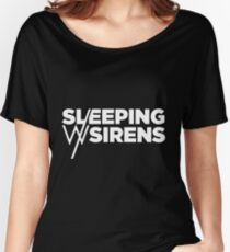 Sleeping With Sirens White Logo Women's Relaxed Fit T-Shirt