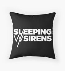 Sleeping With Sirens White Logo Throw Pillow