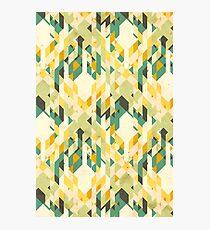 des-integrated tartan pattern Photographic Print
