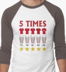 5 Times - Liverpool European Cup Winners T-Shirt