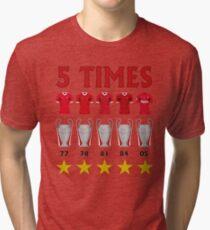 5 Times - Liverpool European Cup Winners Tri-blend T-Shirt
