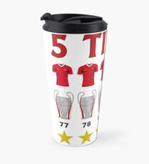 5 Times - Liverpool European Cup Winners Travel Mug