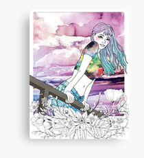 Girl's Diary Collection - Sunset Canvas Print
