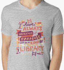 Library Men's V-Neck T-Shirt