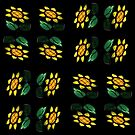 16 Flowers - Stained Glass -  by PB-SecretGarden