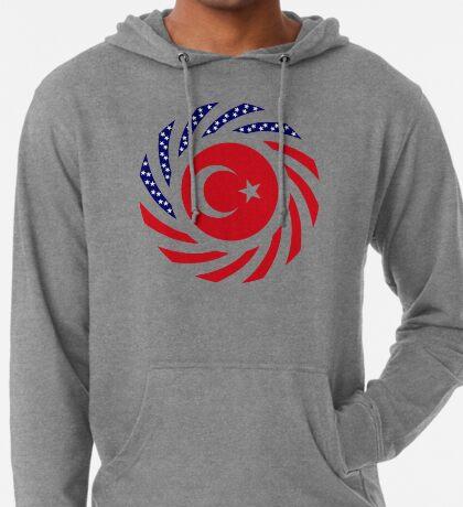 Turkish American Multinational Patriot Flag Series Lightweight Hoodie