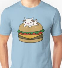 Kawaii and cute cow on a burger T-Shirt