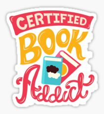 Certified Book Addict Sticker