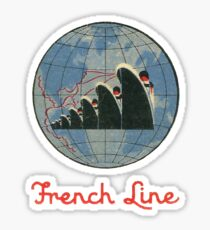 French Line Steamship Sticker