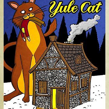 Yule Cat by mongreldesigns